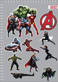 Adesivo Os Vingadores Avengers Herois Marvel Kit 3 Cartelas