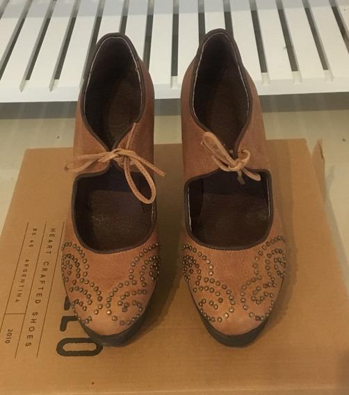 Zapatos Cuero Clara Barcelo - Como Nuevos!