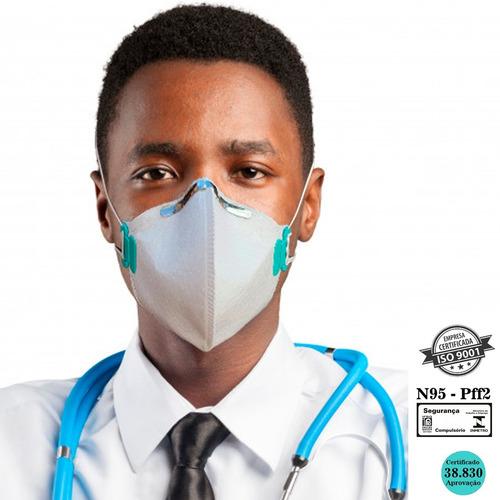 Kit 100 Máscaras N95 Proteção Respiratória Pff2