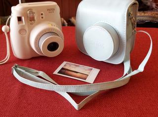 Pack Camara Instax Mini + Cartuchera Original Celeste