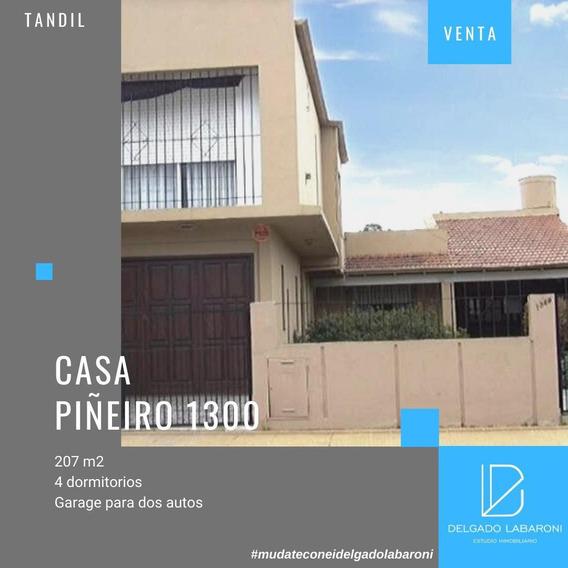 Se Vende Casa De 4 Dorm   Calle Piñeiro 1349  Tandil