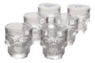Setx6 Vaso Shot Calavera 5.8x5