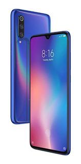 Xiaomi Mi 9 6/64gb Azul Version Global 4g Igual A Nuevo Con 3 Fundas Y Templado De Camara En Caja Completo