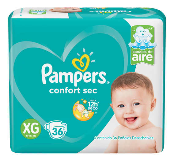 Pañales Pampers Confort Sec - Ver Talles