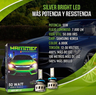 Luces H4 Hammer Silver Bright Led