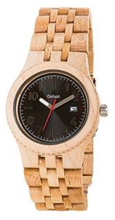 Tense Discovery Yukon Jumbo Reloj De Madera De Arce Redondo