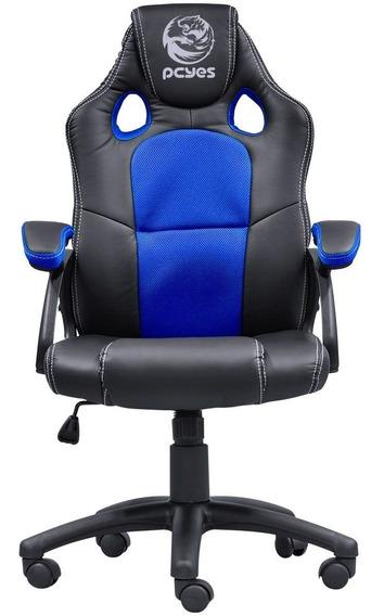 Cadeira Pcyes Gamer Mad Racer V6 Azul Madv6az