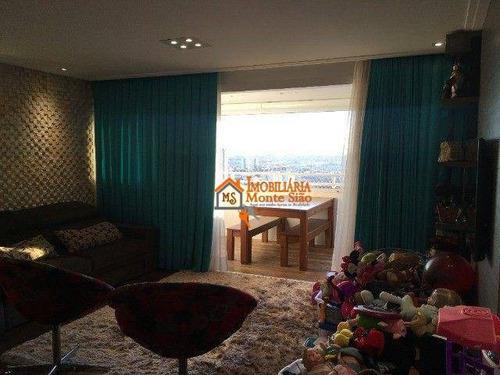 Imagem 1 de 18 de Apartamento Com 3 Dormitórios À Venda, 95 M² Por R$ 750.000,00 - Vila Augusta - Guarulhos/sp - Ap3316