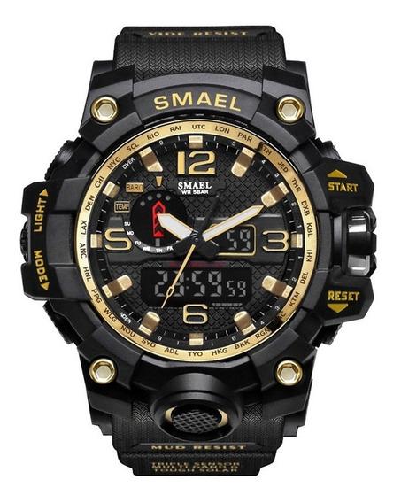 Relógio Dourado Smael Militar Original Tático Prova D
