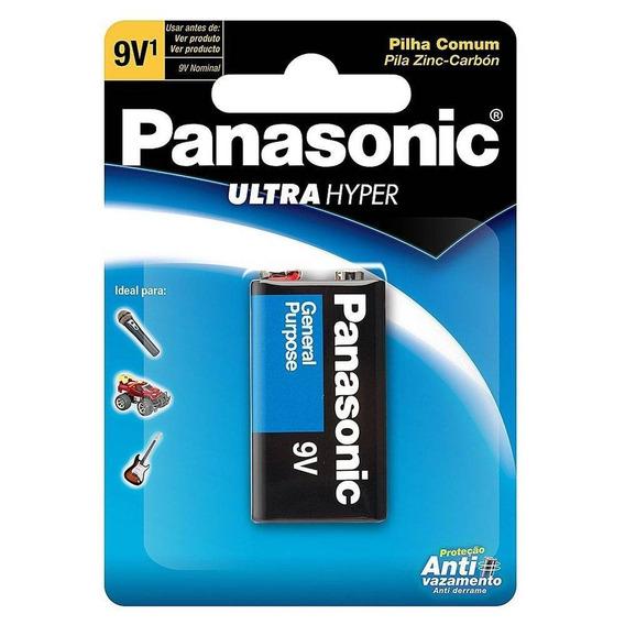 Lote C/ 10 Bateria Panasonic 9v Superhyper