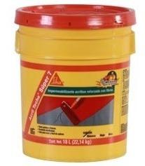 Impermeabilizante Acrílico Power Sika 19l Rojo Para Techo