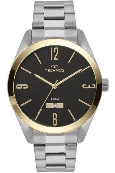 Relógio Technos Masculino Ref: 2115mnv/1p Casual Bicolor