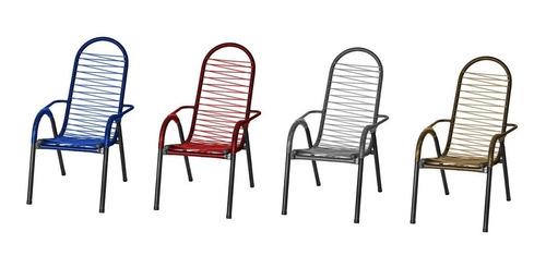 4 Cadeiras De Areá Lazer Varanda Todas Cores Frete Gratis