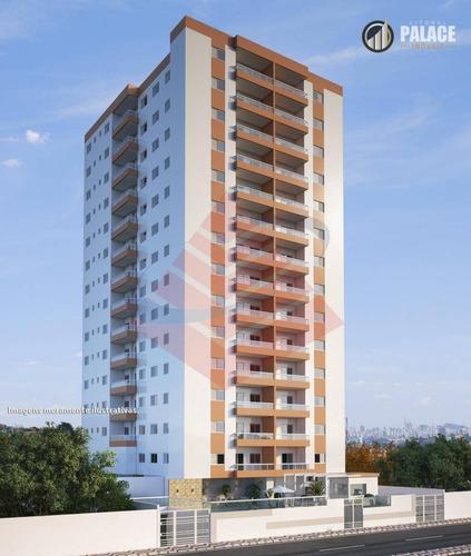 Imagem 1 de 10 de Apartamento Com 2 Dormitórios À Venda, 57 M² Por R$ 279.390,00 - Vila Guilhermina - Praia Grande/sp - Ap2819