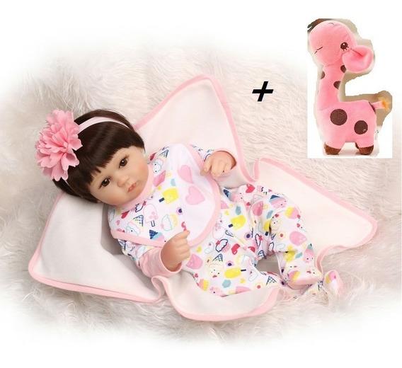 Boneca Bebê Reborn Silicone Pijama Pronta Entrega + Brindes