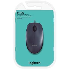 Mouse Logitech Usb Com Fio M100