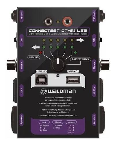 Testador De Cabos De Áudio Waldman Connectest Ct 8.1 Usb