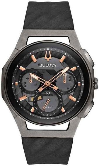 Relógio Bulova Curv Cronógrafo 98a162 *titânio