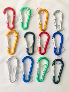 Bandola Mide 7.5 Cms Aluminio Mosquetón Colores Varios