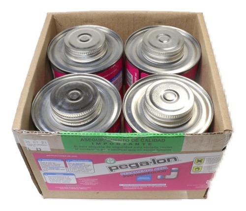Imagen 1 de 4 de Pegamento Pvc Para Uso Hidráulico Caja Con 4 Botes De 250 Ml