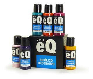 Pintura Acrilica Decorativa Acrilico Eqarte 50cc Pack X10 Un