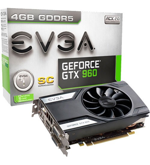Placa De Video Geforce Gtx960 2gb Ddr5 - Evga