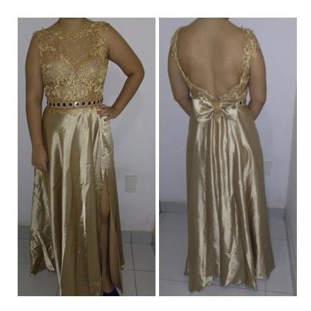 Vestido Dourado Longo Para Formatura, Festa, Casamento.