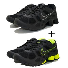 0db5cfa1c3c Tenis Nike Shox Branco Com Mola Verde Limao - Tênis no Mercado Livre ...