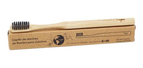 Lagnie 1 Cepillo Dientes Cerdas Carbón Bambú Ecológico Suave