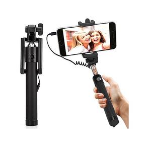 Pau Bastão Monopod De Tirar Selfie Via Cabo P2 Universal Ios