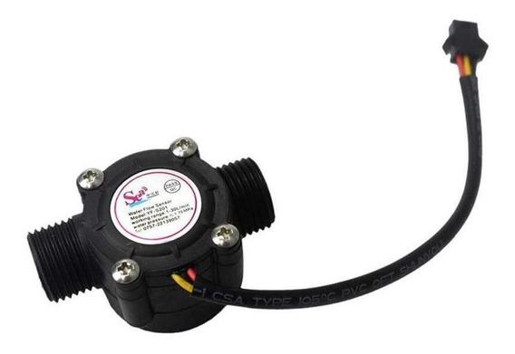 Sensor Hall Fluxo Vazão Água 1/2 - Arduino 30l/minuto