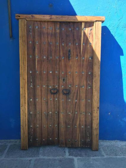 Puerta Dos Hojas Madera Antigua