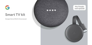 Kit Google Home Mini Y Chromecast 3ra Gen Smart Tv Domotica