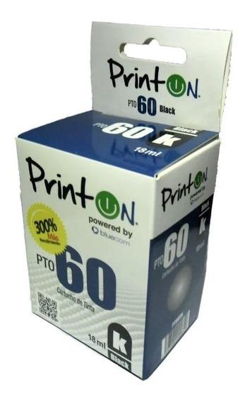 Cartucho Compatible Hp Marca Printon 60 Negro Xl