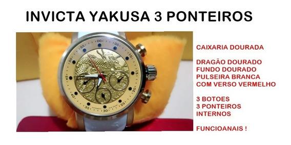 Relogio Invicta Yakusa/s1 Top Do Modelo 3 Botões Funcionais