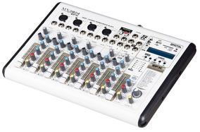 Mesa Mixer De Som Staner 8 Canais Com Efeito Mx0804 Efx