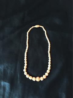 Antiguo Collar De Material Noble Hueso O Marfil