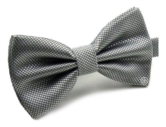 Corbata De Moño Clasico Para Hombre Grin Accs Color Plateado