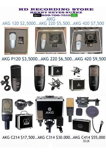 Imagen 1 de 1 de Microfono De Grabacion Akg 120 220 420 C214 C314 C414