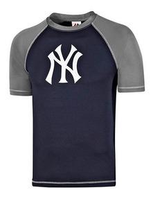 Playera Majestic Casual Yankees Hombre Pol Azul 90788 Dtt