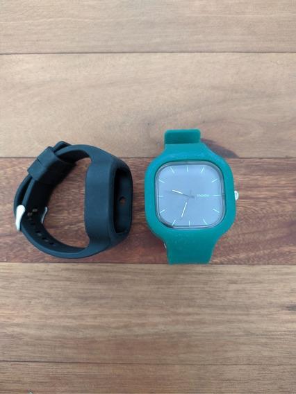 Relógio Moovwatch Com 2 Pulseiras