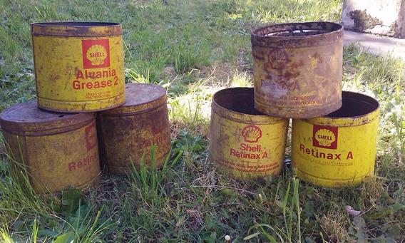 Lote De Antiguas Latas De Shell Retinax A Y Alvania Vacias