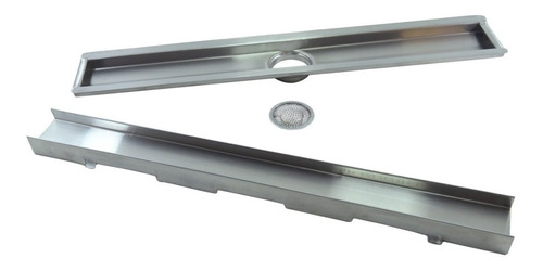 Ralo Invisivel 60cm Linear Oculto De Inox Saida Central 50mm