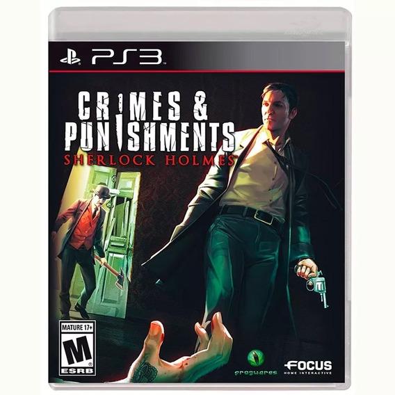 Crimes & Punishments Sherlock Holmes Ps3 Mídia Física Lacrad