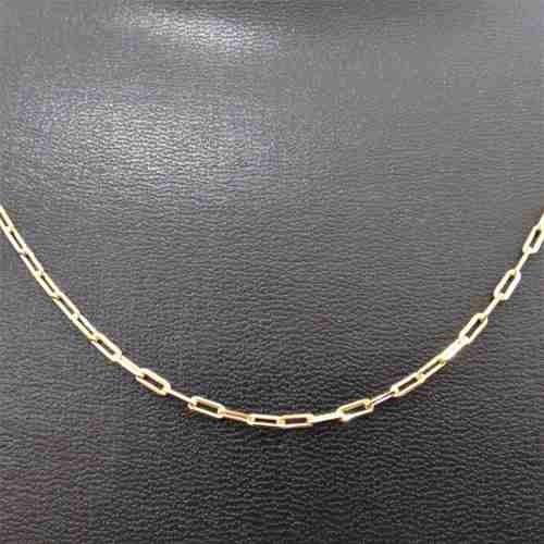 Cordão Corrente Masculina 70cm 2mm Banhada Ouro Semi Jóias