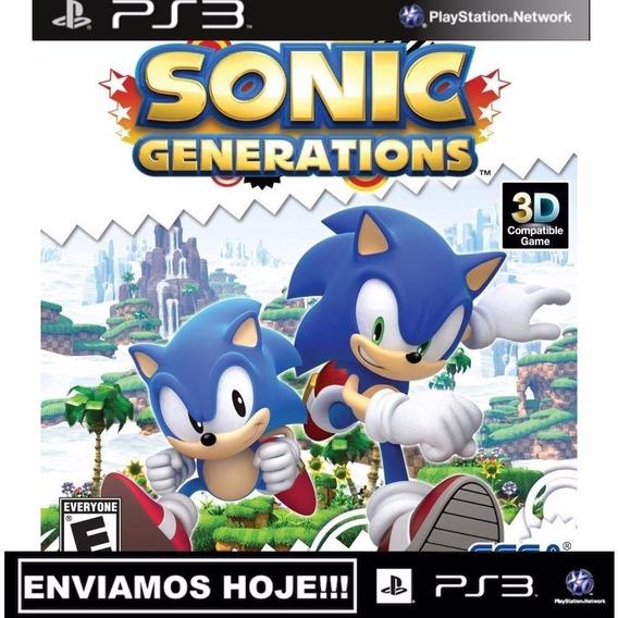 Sonic Generations - Psn Ps3 - Digital Original Envio Já