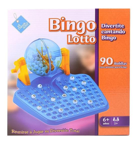 Bingo Con Bolillero Lotto Juego De Mesa El Duende Azul 6012