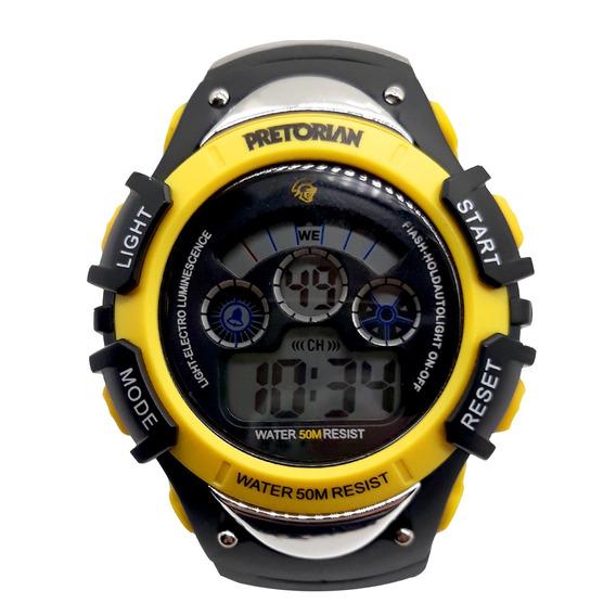 Relógio Pretorian Control Black/ Yellow ( Wprt - 01-2)