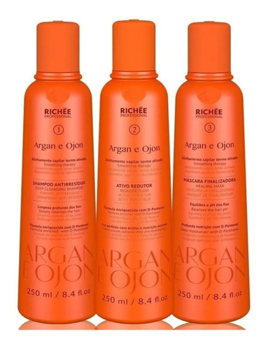 Richée Professional Argan E Ojon Kit Progressiva 3und 250ml