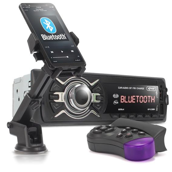 Auto Radio Automotivo Mp3 Bluetooth Kp-c30 Controle Suporte